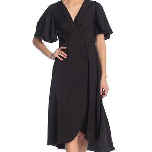 ASTR the label retro style midi dress black flowy